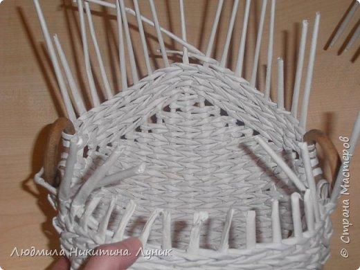 Привет Страна! Выполняю просьбу мастериц - выкладываю поэтапно плетение новой формы. Сразу оговорюсь, что размеры могут быть какими вам угодно. Это может быть даже большая напольная корзина.   фото 27