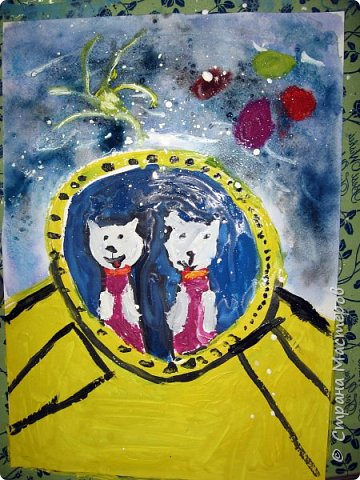 С учениками  (5-6 лет) рисовали кошек и собак разными материалами, вот результаты нашего творчества.  Первая работа моя, дальше детские, использовали для работы гуашь, шторы отпечатывали подложкой от продуктовой нарезки, произвольно рисовали на ней линии, наносили краску и делали отпечаток (можно использовать кусочки тюли или кружева). фото 29