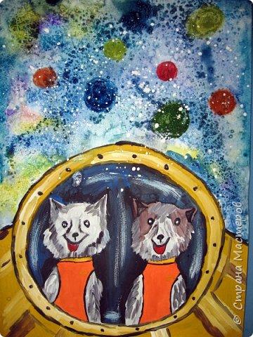 С учениками  (5-6 лет) рисовали кошек и собак разными материалами, вот результаты нашего творчества.  Первая работа моя, дальше детские, использовали для работы гуашь, шторы отпечатывали подложкой от продуктовой нарезки, произвольно рисовали на ней линии, наносили краску и делали отпечаток (можно использовать кусочки тюли или кружева). фото 27