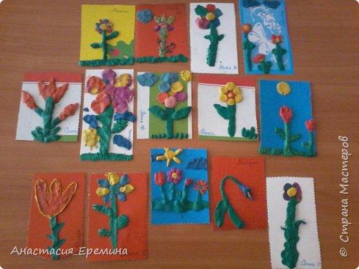 """Пластилинография """"Первоцветы"""" фото 1"""