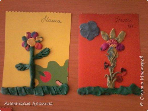 """Пластилинография """"Первоцветы"""" фото 3"""