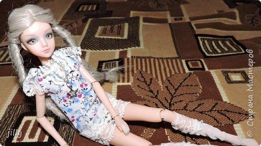 Наконец-то сшила одежку на одну из фотогеничных кукол J-Doll — Piazza Cavalli . Мастер-класс простой, любой сможет сделать это платьишко. фото 5