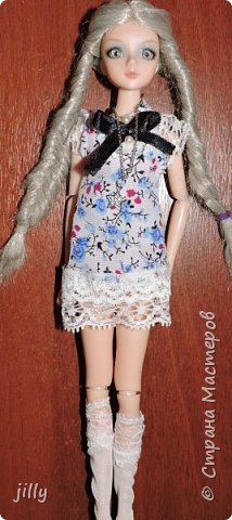 Наконец-то сшила одежку на одну из фотогеничных кукол J-Doll — Piazza Cavalli . Мастер-класс простой, любой сможет сделать это платьишко. фото 1