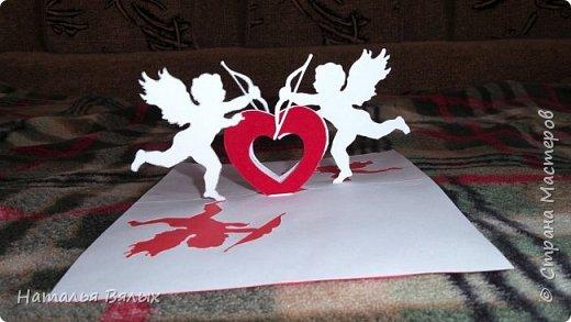 Здравствуйте! давно ничего не добавляла,но  хочется поделиться своей работой.Эту открытку я сотворила своему любимому на День Св. Валентина.Это лицо открытки. фото 3