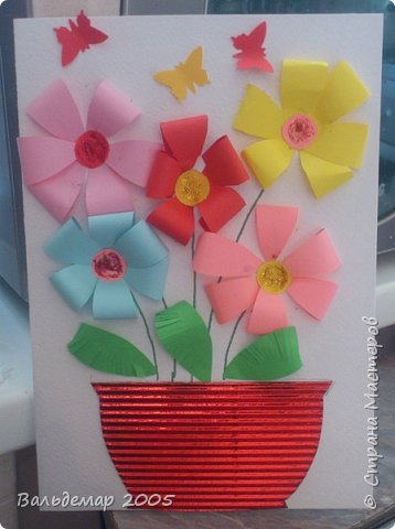 Недавно у моей бабушки был день рождения, и я решил порадовать её вот такой открыткой. фото 5