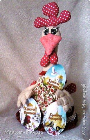 Курочка Ряба по МК Людмилы Набиуллиной.Снесла курочка яйцо не простое, а большое деревянное. фото 10