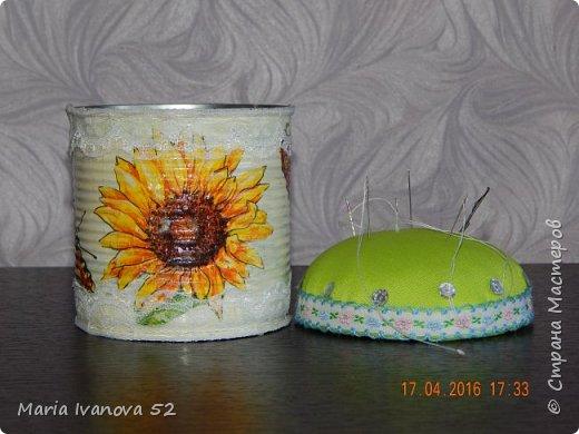 Игольница из баночки кукурузы фото 1
