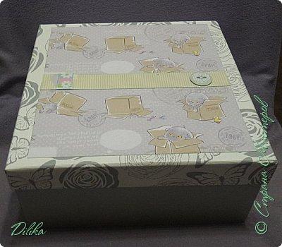 Коробка для альбома.  Коробка готовая, просто задекорировала фото 1