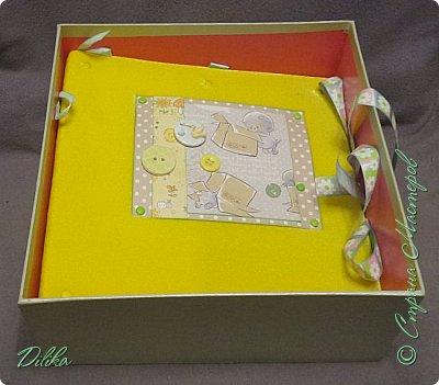 Коробка для альбома.  Коробка готовая, просто задекорировала фото 2