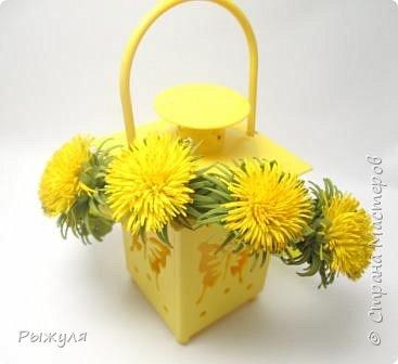 Всем доброго дня!!!  Решила выставить все цветочки сделанные за последнее время)))) одуванчики - заколка и колечко фото 2