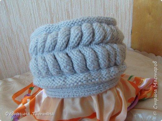 На зиму связала себе вот такую шапку, в две нитки, пряжа SUPER EXCELLENCE 49% шерсть, 51% акрил, 228 м, 100 гр. фото 1