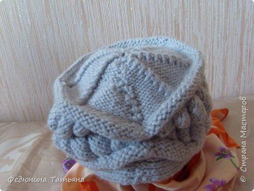 На зиму связала себе вот такую шапку, в две нитки, пряжа SUPER EXCELLENCE 49% шерсть, 51% акрил, 228 м, 100 гр. фото 2