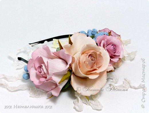 """Здравствуйте,дорогие Мастера и Мастерицы)!!Ох,как же давно я здесь не была...А за это время я,как и большинство)),успела """"заболеть"""" фоамираном))!!!И вот хочу показать вам свои розочки).Все розы сделаны из иранского фоамирана,тонировка масляной пастелью,стебли из полимерной глины,листья - фоамиран.Розочки делала по МК Александры Троицкой! фото 13"""