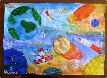 автор работы: Миляуша, ученица 5 класса. Планеты готовятся к параду. фото 3