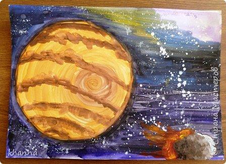 автор работы: Миляуша, ученица 5 класса. Планеты готовятся к параду. фото 5