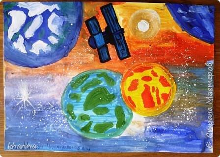 автор работы: Миляуша, ученица 5 класса. Планеты готовятся к параду. фото 2