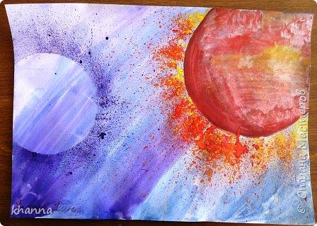 автор работы: Миляуша, ученица 5 класса. Планеты готовятся к параду. фото 4