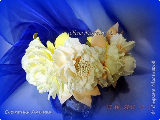 Доброго времени суток!!!  Ободок с нежными розами и фантазийными цветами сделан на заказ. фото 3