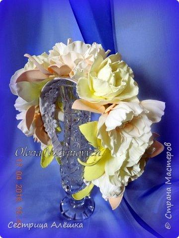 Доброго времени суток!!!  Ободок с нежными розами и фантазийными цветами сделан на заказ. фото 7