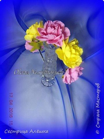Доброго времени суток!!!  Ободок с нежными розами и фантазийными цветами сделан на заказ. фото 9