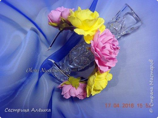 Доброго времени суток!!!  Ободок с нежными розами и фантазийными цветами сделан на заказ. фото 12