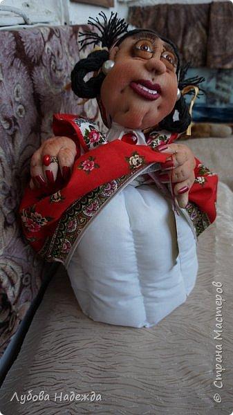 """Кукла-грелка на чайник""""Ирада"""" фото 4"""