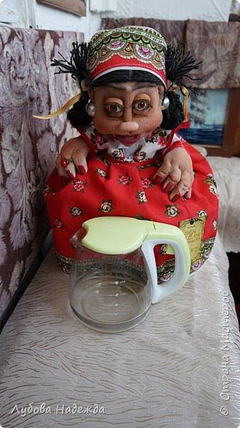"""Кукла-грелка на чайник""""Ирада"""" фото 7"""