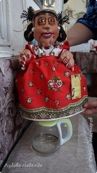 """Кукла-грелка на чайник""""Ирада"""" фото 6"""