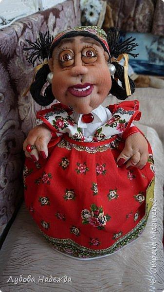 """Кукла-грелка на чайник""""Ирада"""" фото 2"""
