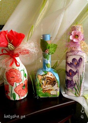 Вот такие 3 бутылочки появились в один прекрасный день с хорошим вдохновением фото 1