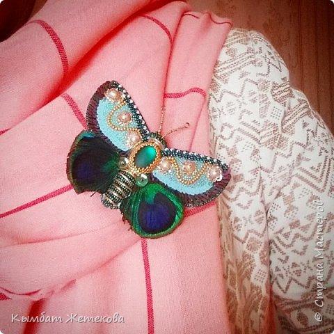 Бабочку вышила по мк Людмилы Плотниковой на сайте ярмарка мастеров фото 3