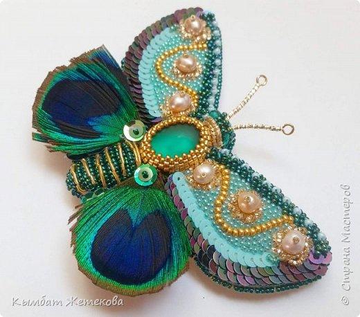 Бабочку вышила по мк Людмилы Плотниковой на сайте ярмарка мастеров фото 2