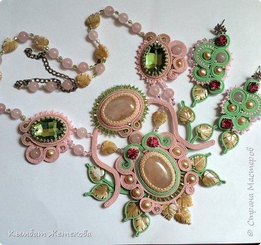 серьги с кристаллами сваровски и японским бисером фото 12