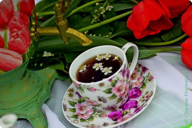 Пусть ваше утро будет добрым, а весна дарит маленькие радости.Приглашаю вас на чай)  Весенний чай☕ Утро. Слышны трели соловья Солнышко в окно ко мне стучится. Приглашает нас на чай весна, Самовар во всю уже дымится!  Ароматный и цветочный чай Разливает медленно по кружкам И со мной заводит разговор, Словно я ей лучшая подружка.  Одурманив нежной красотой Стала я счастливой на мгновенье! Я сегодня чай пила с весной  Чувствуя ее прикосновение! Юля Вегера  Фото Натальи Чередниченко фото 8