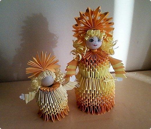 Солнышки на шпажках украшают цветочные горшки. фото 8