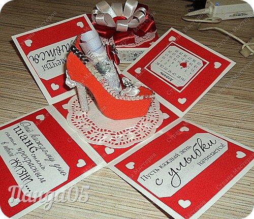 """Продолжают у меня выпекаться коробочки,как горячие пирожки))  Заказ для 15летней девочки.Думала я,думала...Вспомнила фильм """"Ночь перед Рождеством"""",как Оксана требовала от Вакулы """"черевички,которые сама царица носит!""""(с) И вот они,собственно,те самые черевички царские))) фото 22"""