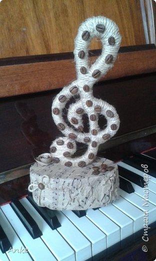 Вдохновившись идеей http://stranamasterov.ru/node/603032?c=favorite_c я сделала музыкальный подарок в виде скрипичного ключа. фото 1