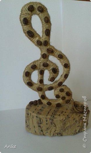 Вдохновившись идеей http://stranamasterov.ru/node/603032?c=favorite_c я сделала музыкальный подарок в виде скрипичного ключа. фото 5