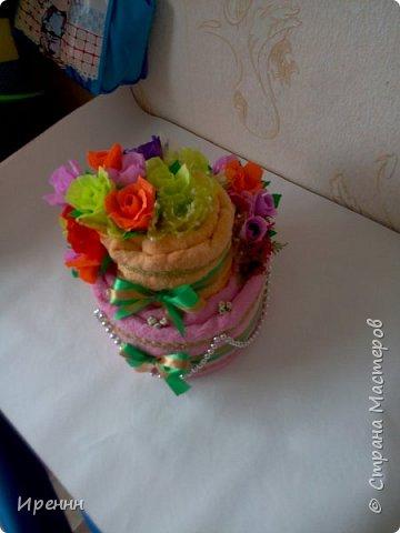очередной тортик из полотенец фото 4