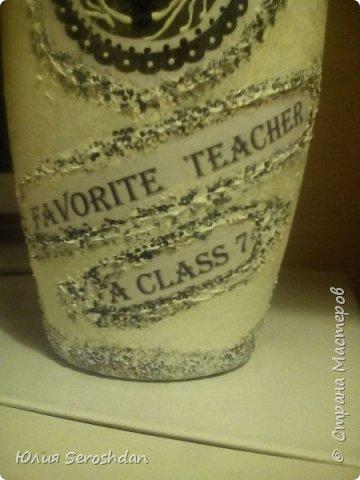 Всем привет. Запоздалый отчет ко дню учителя. Попросили меня сделать вазу классному руководителю на день учителя. Учитель по английскому языку. Отсюда и тема для распечаток... На обычном принтере распечатала фразу на английском : Любимая учительница 7А класса. Ну и конечно же Лондон. Теперь всё по порядку. фото 4