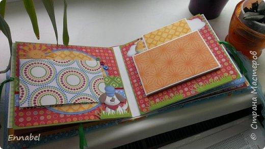 Альбом в мягкой тканевой обложке, размер 20х20 с множеством открывашек. фото 5