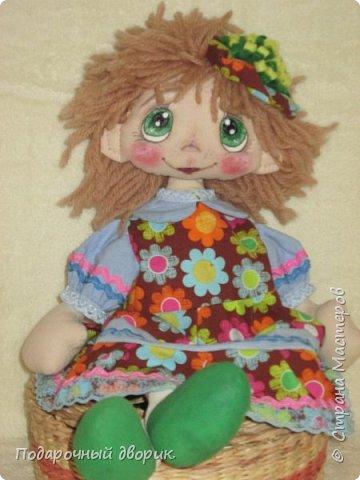 Кукла -Анютка. Игровая текстильная кукла .Рост 45 см.Платье съёмное. фото 2