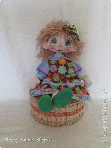 Кукла -Анютка. Игровая текстильная кукла .Рост 45 см.Платье съёмное. фото 3