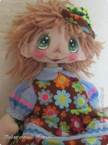 Кукла -Анютка. Игровая текстильная кукла .Рост 45 см.Платье съёмное. фото 5