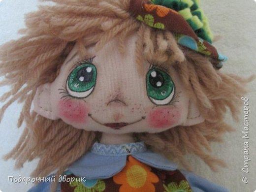 Кукла -Анютка. Игровая текстильная кукла .Рост 45 см.Платье съёмное. фото 4