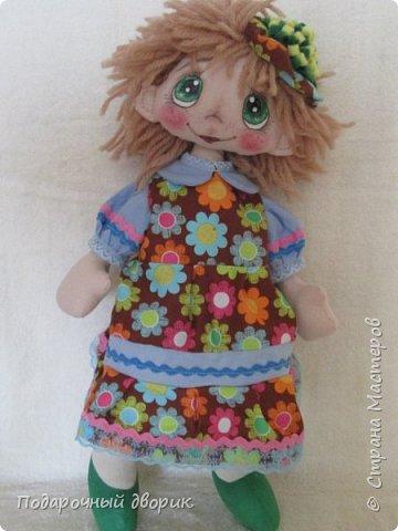 Кукла -Анютка. Игровая текстильная кукла .Рост 45 см.Платье съёмное. фото 6