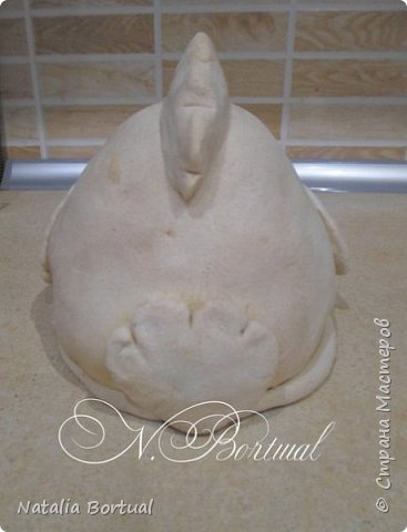 Добрый день жители СМ!!!! Приглашаю вас к просмотру мини МК фигуры Пасхальной курочки из соленого теста!!! фото 9