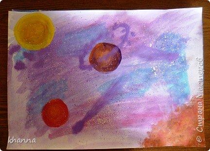 автор работы: Миляуша, ученица 5 класса. Планеты готовятся к параду. фото 7