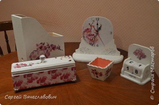 """Писменный набор """"Орхидея"""" фото 1"""