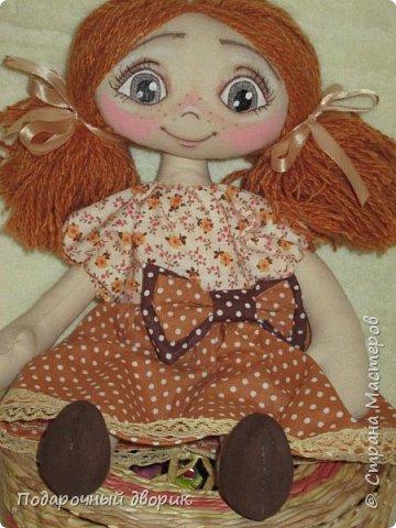 Игровая ,текстильная куколка.Ростом 38 см.  фото 2